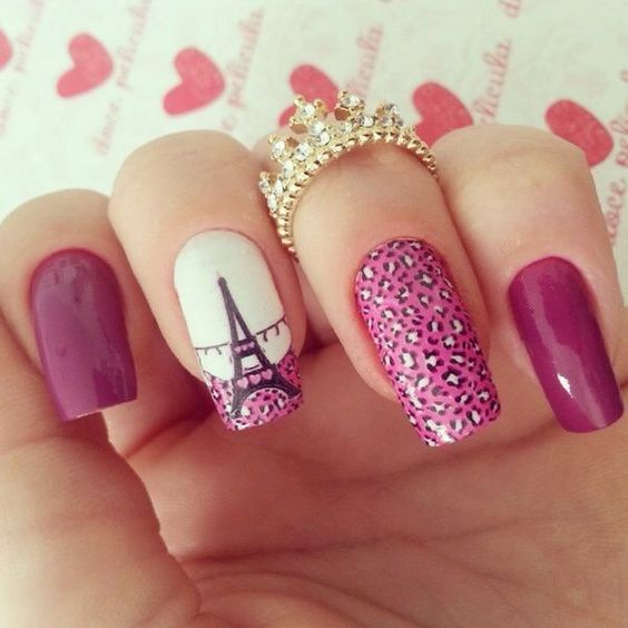 17 Nails Style Eiffel Tower Fashionthestyle Latest